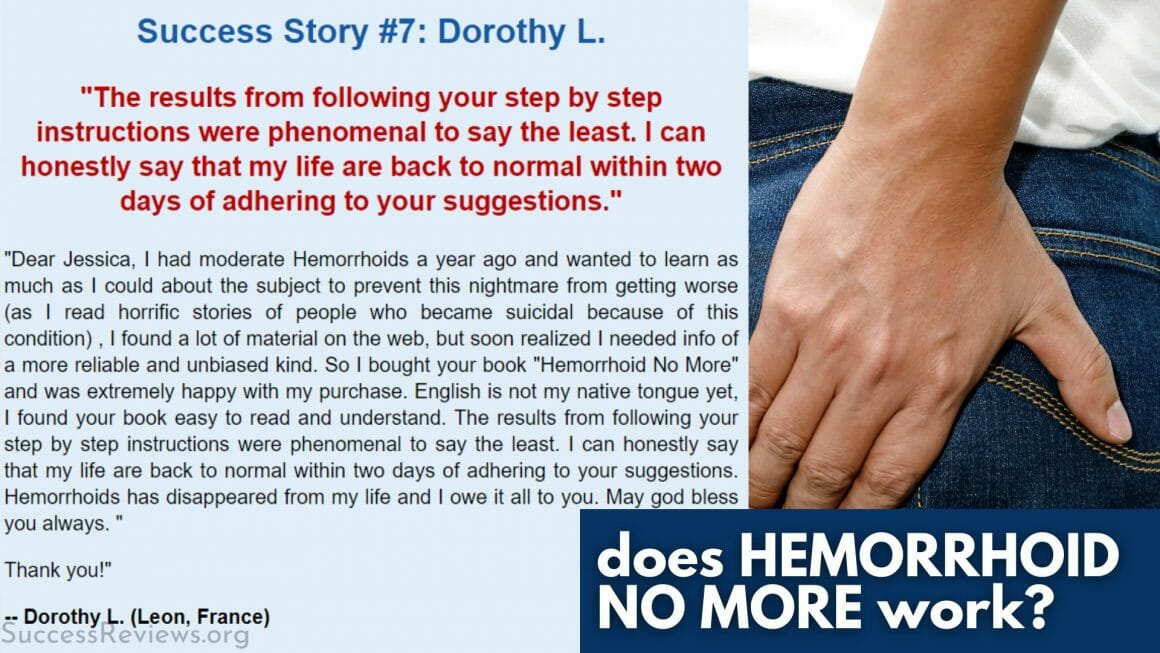 Hemorrhoid No More does it work?