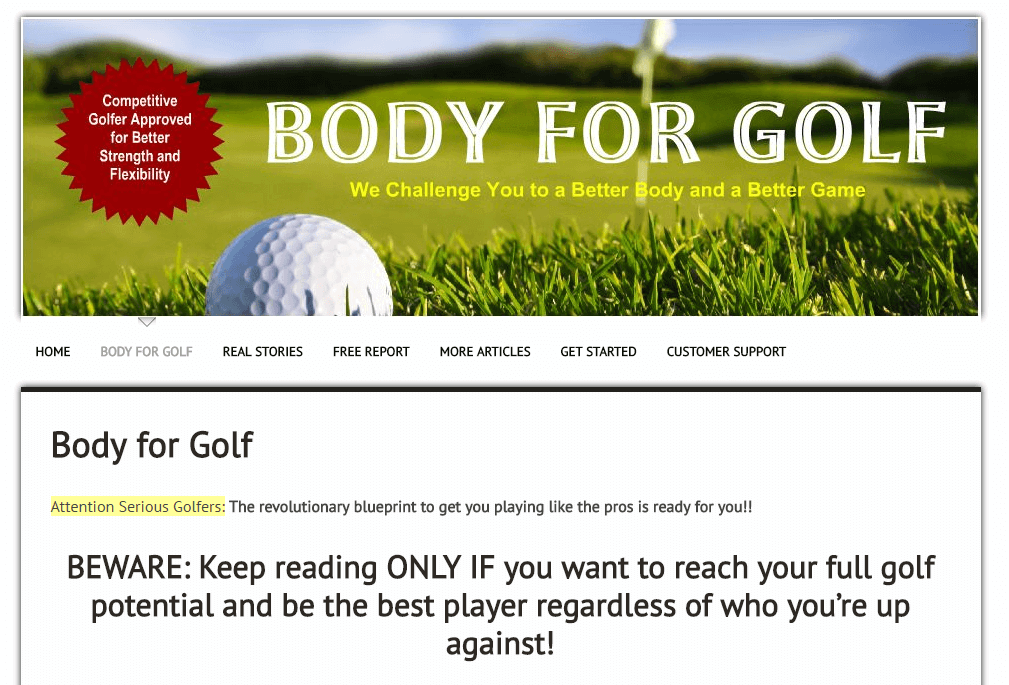 body-for-golf