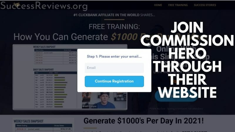 Commission Hero join commission hero through their website