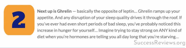 Eat Sleep Burn Ghrelin