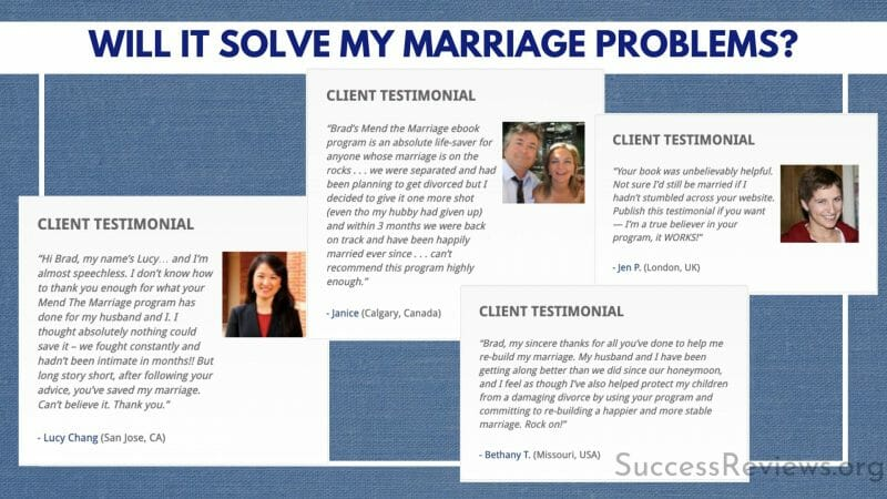 Mend the Marriage Will it solve my marriage problems?