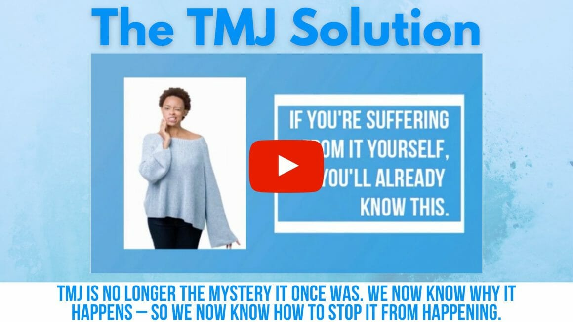 The TMJ Solution Worry No More About TMJ