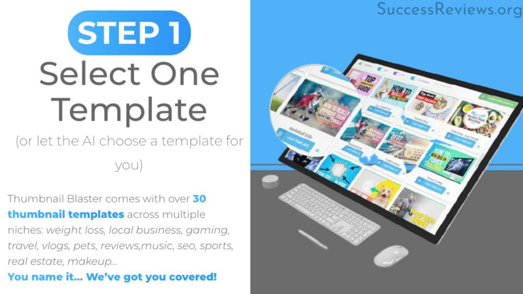 Thumbnail Blaster Step 1 Select one Template