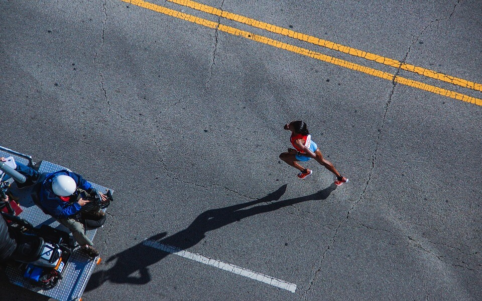 runner topview