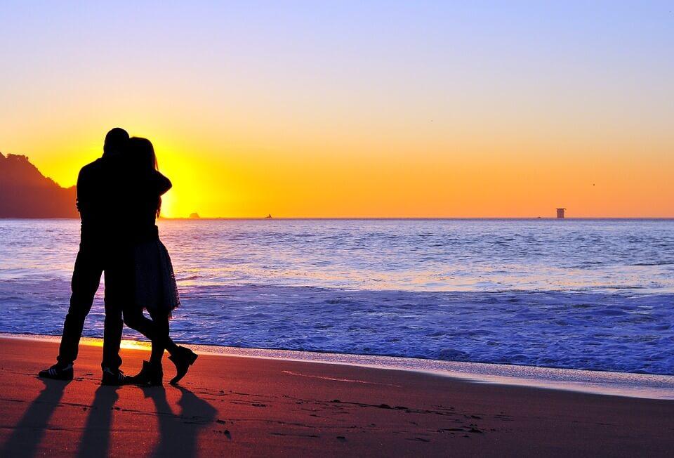 couple under sunset
