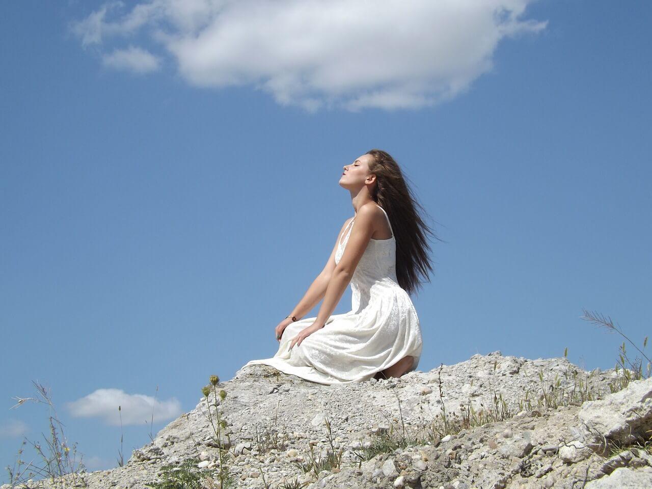 girl on hilltop