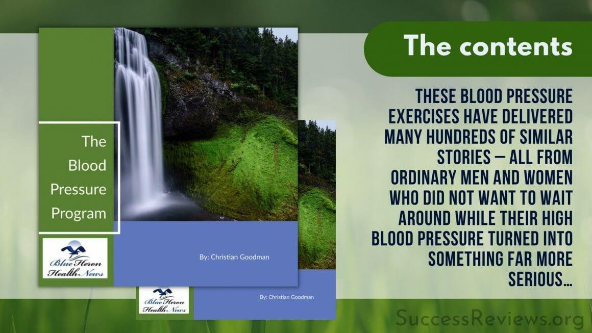 Blood Pressure Program The Contents