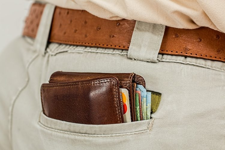 full wallet in pocket