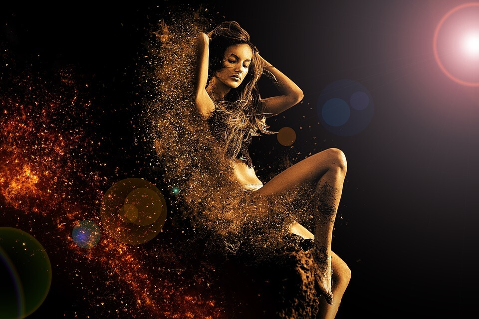 lady splash